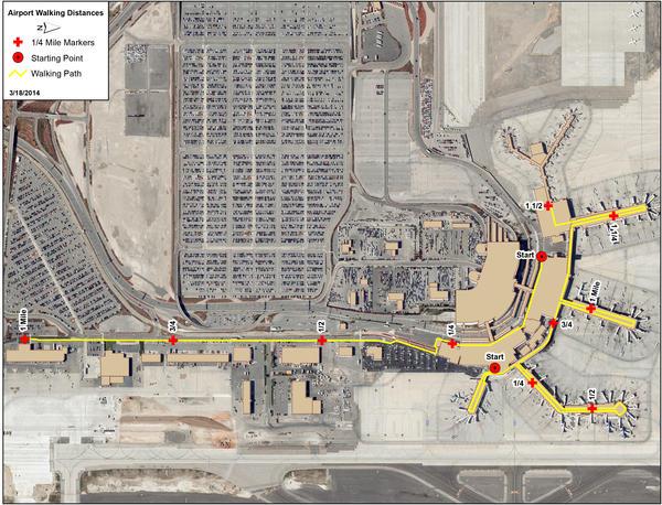 map of slc airport Walking Map Salt Lake City International Airport map of slc airport