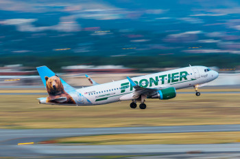 Frontier plane take off