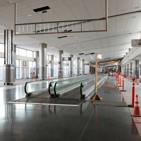 Concourse A Looking E March 2020