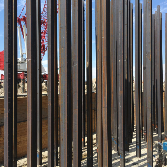 North Concourse Steel Piles 2