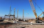North Concourse steel erection with plane Nov 20 2018